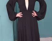 Ossie Clark vintage moss crepe dress, size UK 12-reserved for emma