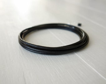 Leather wrap bracelet black leather bracelet black wrap bracelet leather cuff bracelet for men for women
