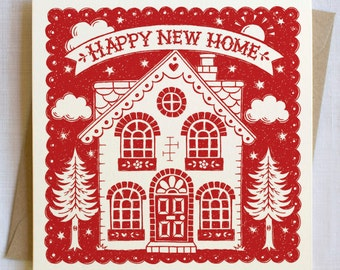 Happy New Home Card   Moving Card   New House Card   New Home Card