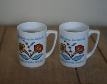 vintage berggren coffee cups set of two