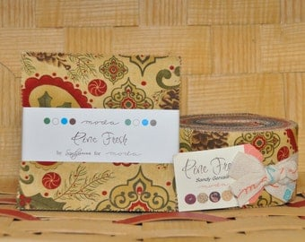 Pine Fresh by Sandy Gervais for Moda - 100% Cotton - Charm Pack & Jelly Roll Bundle
