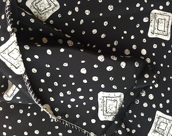 Black & White Polka Dot Fabric Yardage Destash