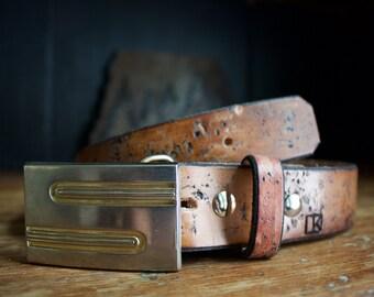 "Vintage Buckle on ""Fossil"" belt"