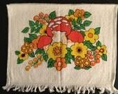 Vintage Kitchen Mushroom Hand Towel  - Unused