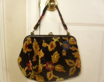 Vintage 1950's/1960's  Julius Resnick Chenille Handbag