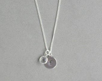 April and HS Initial Necklace