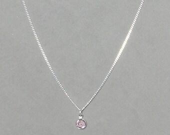 June Birthstone- Light Amethyst Drop Necklace