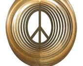 Peace Sign Woodstock COMBO Swirly Metal Wind Spinner