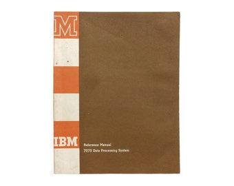 Paul Rand (attributed) book cover design, 1959-60. Reference Manual. Operator's Guide for IBM 7070 Data Processing System.