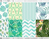 Erin Condren March Tropical Green Pattern Full Boxes Set