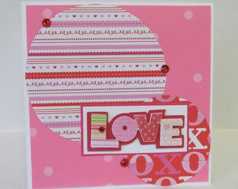 All My Love Christian Wedding Anniversary I Love You Card With Pink Flowers And Scripture