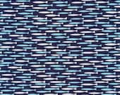 ORGANIC KNIT-Cloud9 Life Aquatic (Navy)  1 yard