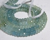 Aquamarine - Shaded - AAAA - High Quality So Gorgeous Natural Blue Mic Color Micro Faceted Rondell Beads Huge size - 5 mm approx