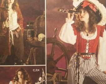 Adult Halloween Costume, Lady Pirates of the Caribbean, Simplicity 3677 Sewing Pattern, Cos Play,  Plus Sizes