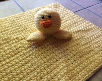 Crochet ducky lovey