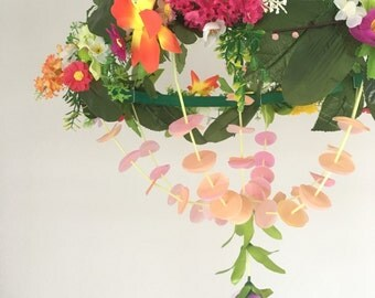 Floral pajaki decorative chandelier