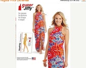 ON SALE Simplicity Pattern S0399/1100 - Misses' Halter Style Wrap Around Beach Cover-Up or Dress - Sz Xxs - Xl
