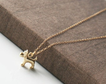 Dog Necklace,Delicate Necklace,Layering Necklace,Gold Necklace,Schnauzer Necklace,Minimal Necklace,Bridesmaid Gift