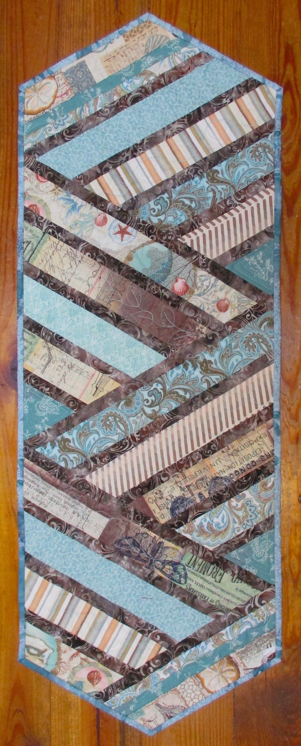 Quilting Patterns Beach Theme : Quilted Table Runner Beach Theme Quiltsy Handmade