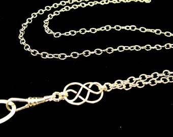 Women's Fashion ID Badge Lanyard with a Single Celtic Knot