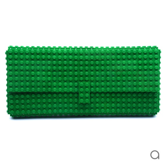Green clutch purse made with LEGO® bricks FREE SHIPPING purse handbag legobag trending fashion