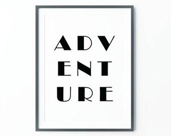 Adventure Print ,  Adventure Poster,  Wanderlust , Adventure , Scandinavian Art, Large Wall Art, Oversized Art, Trending Items, Trending Now