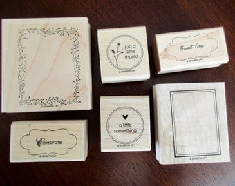 RUBBER STAMPS Stampin' Up 6 stamps- Matchbox Messages
