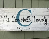 Personalized rustic name sign Family Name Sign  Custom Family Name Signs Rustic Family Sign 10 x 26