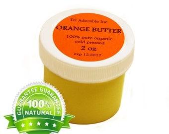 2 Oz Pure Organic Orange Butter Fresh Cold Pressed