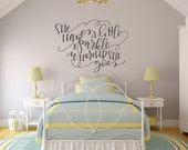 Vinyl Wall Sticker Decal Art - She Leaves a Little Sparkle Wherever She Goes