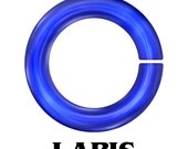 20-Gauge AWG Anodized Aluminum Jump Rings- Lapis Color - 100 Pieces - Pick your size!