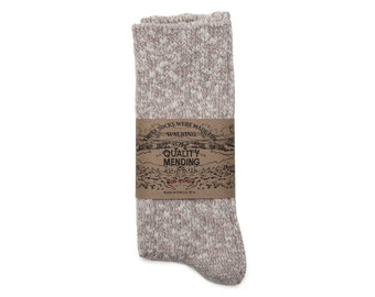 Quality Mending Co. Rag Socks - Brown