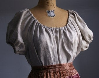 linen peasant blouse shirt chemise for renaissance medieval faire gypsy pirate -made upon ordering see listing for details