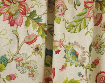 Brissac Jewel Jacobean Floral Kaufman Fabric
