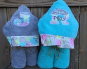 Hooded Towel with personalization - over 200 fabric choices