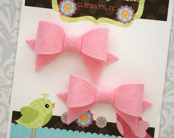 Pigtail Bows, Felt Bows, Pick A Color, Felt Bow Hair Clip, Felt Bow Clips, Hair Bows, Felt Hair Clip, Toddler Bow Girls Bow Toddler Hair Bow