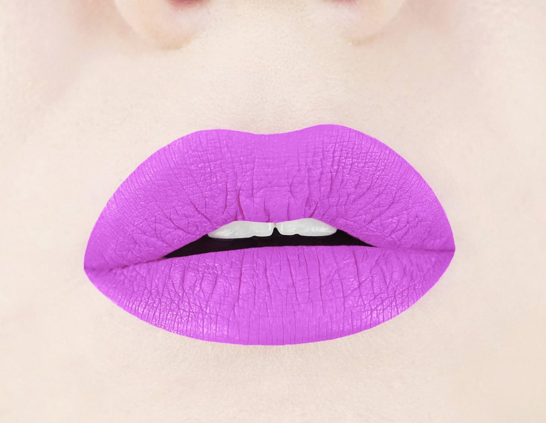 Pink Periwinkle Matte Liquid Lipstick. Glossy to Matte Liquid