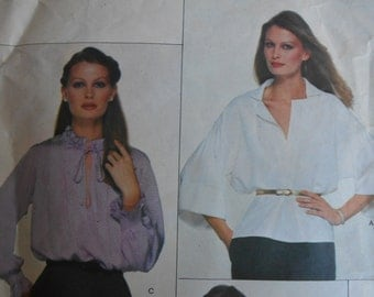 Vogue 2109 Jean Muir Loose Pullover blouse sewing pattern size 8