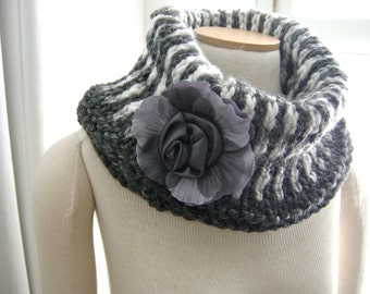Granite and Marble Cowl Knitting PATTERN - Great for the Beginner