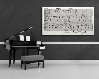Sheet Music Art, First Dance On Canvas, Sheet Music Wall Art Framed On Canvas, Sheet Music Canvas, First Dance Print