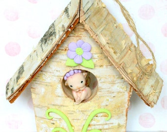 Baby fairy and house
