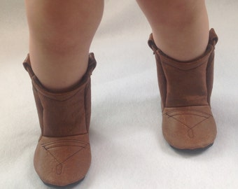 Ostrich Leather Baby Cowboy Boots | Newborn size up to 24 Months