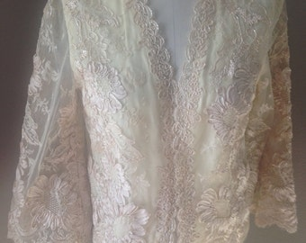 Vintage Ivory Lace Jacket