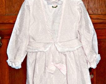 Girl Dresses Toddler Girls Dress Pink Dress Swiss Dot Dress Victorian Style Dress