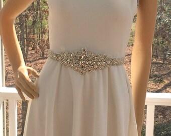 Bridal Crystal Sash, Wedding Crystal Sash, Bridal  Rhinestone Belt, Rhinestone Crystal Sash, Wedding Sash Belt