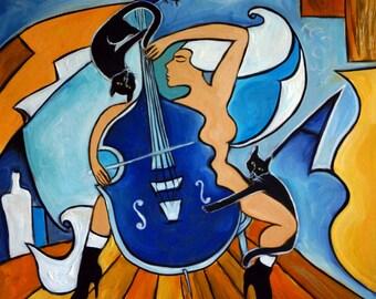 Blue Sonata, giclee