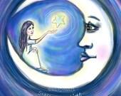 Share Your Light print from original Kae Pea Art