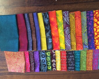 Bright Modern Fat Quarter Bundle - Inked from Red Rooster - 31 Fat Quarters