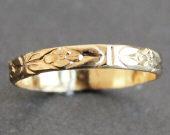 14k Gold Vermeil Flower Ring - READY TO SHIP (Various Sizes)