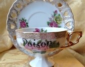 Poison Tea Cup and Saucer Altered Gift Set